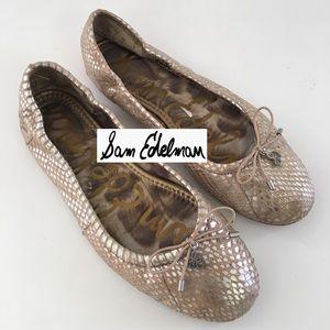 "SAM EDELMAN ""FELICIA"" Snake Print Ballet Flat"